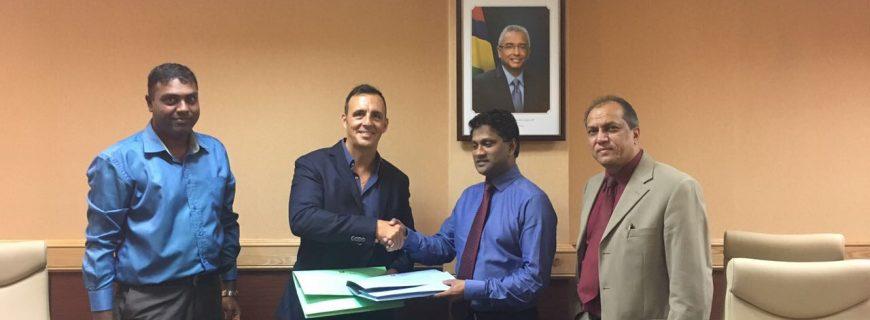 Signature officielle du PPA 5Mw avec la CEB à l'ile Maurice