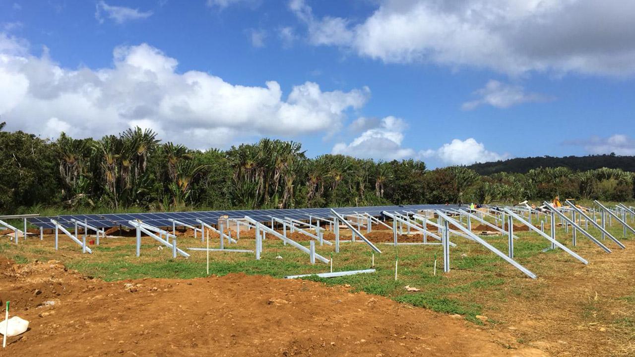 Le projet de 2Mw à Henrietta avance... (île Maurice)